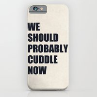 iPhone & iPod Case featuring We should probably cuddle now by Nicklas Gustafsson