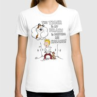 The Tiger In My Brain Womens Fitted Tee White SMALL
