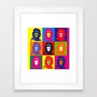 Chimp Guevara 9 Times T-shirt Canvas Print Framed Art Print