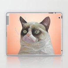 grumpy-cat-Orange Laptop & iPad Skin