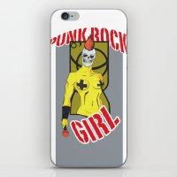 Punk rock Girl iPhone & iPod Skin