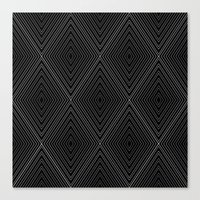 Diamonds (Black) Canvas Print