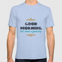 Good Morning, Let's Have… Mens Fitted Tee Athletic Blue SMALL