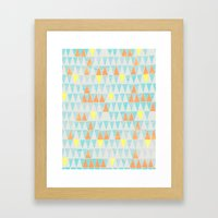 Triangle Patterns Framed Art Print