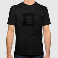 DIGITAL INDIAN INK - SQU… Mens Fitted Tee Tri-Black SMALL