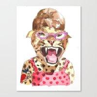 Canvas Print featuring Rockabilly Leopard by Becca Kallem