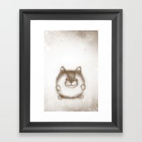 Baby Fox Framed Art Print