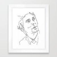 Matthew Bellamy WordsPor… Framed Art Print