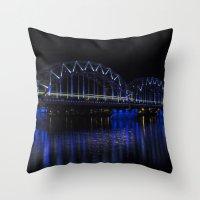Railroad bridge Throw Pillow