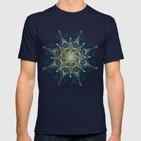 Heart Chakra Mens Fitted Tee Navy SMALL
