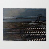 Snow on the Tracks Canvas Print