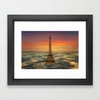 Sous Le Ciel De Paris Framed Art Print