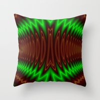 The Waves of Sound Throw Pillow