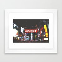 We Need To DISOBEY Framed Art Print