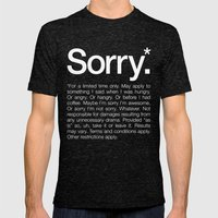 Sorry.* For A Limited Ti… Mens Fitted Tee Tri-Black SMALL