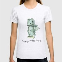 Dragon quote: You`ve got the magic on you!   Womens Fitted Tee Ash Grey SMALL