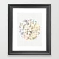 Spiral Dots Framed Art Print