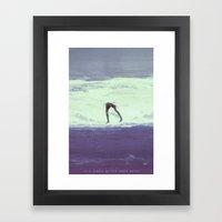 IT'S ALWAYS BETTER UNDER WATER Framed Art Print