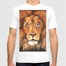 Iron Lion SMALL White Mens Fitted Tee