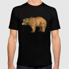 BROWN BEAR Black SMALL Mens Fitted Tee