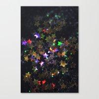 Starry Starry Night Neon (1) Canvas Print