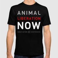 Liberation Now Mens Fitted Tee Black SMALL