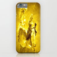 nebula iPhone & iPod Cases featuring Yellow neBUla  by 2sweet4words Designs