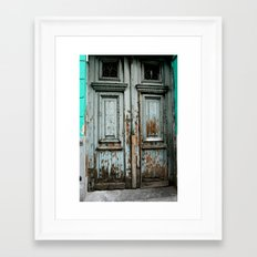 Turquoise Door Framed Art Print