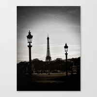 Twilight in Paris Canvas Print