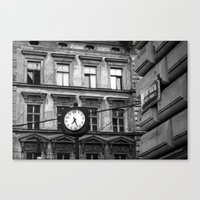 Prague 7:27 Canvas Print