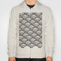 Waves All Over - Black and White Hoody