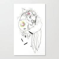 Air Tectonic - Ink and Pastel Drawing Canvas Print