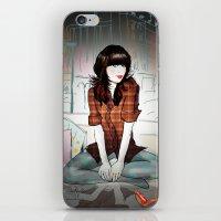Zooey Deschanel Night iPhone & iPod Skin