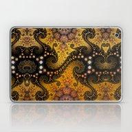 Golden Dragon Spirals An… Laptop & iPad Skin
