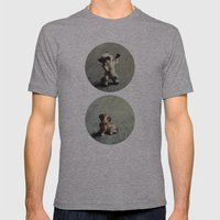 Cats & Dogs Mens Fitted Tee Athletic Grey SMALL