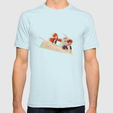 Flying Around Light Blue Mens Fitted Tee SMALL