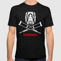 Badass - The Video Game Mens Fitted Tee Tri-Black SMALL
