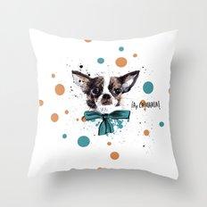 Chic Chihuahua dog Throw Pillow