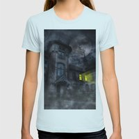 Fright Night Womens Fitted Tee Light Blue SMALL