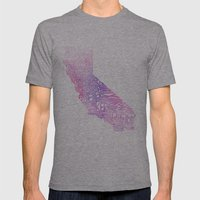 Typographic California -… Mens Fitted Tee Athletic Grey SMALL