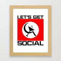Let's Get Social Framed Art Print