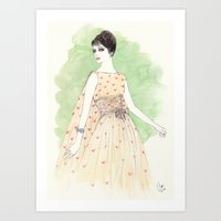 'Chloe' Watercolor Fashi… Art Print