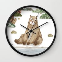 Mr.Brown is chilling by the river. Wall Clock