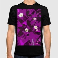 Bouganvilla delight Mens Fitted Tee Black SMALL