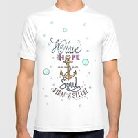 Hebrews 6:19 Mens Fitted Tee White SMALL