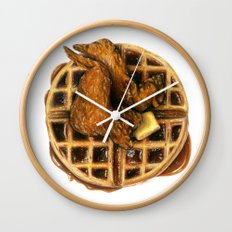 Chicken and Waffles Wall Clock