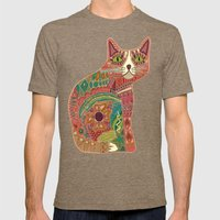 sugar cat Mens Fitted Tee Tri-Coffee SMALL