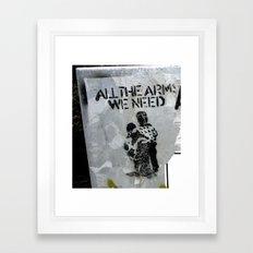 A Good Message Framed Art Print