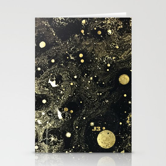 Cosmic Gold Stationery Card