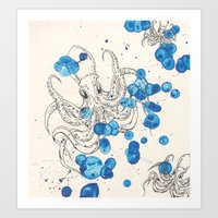 Octopus! Art Print